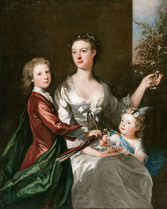 Joseph Highmore - The Artist épouse Susanna, Fils Anthony And Daughter Susanna