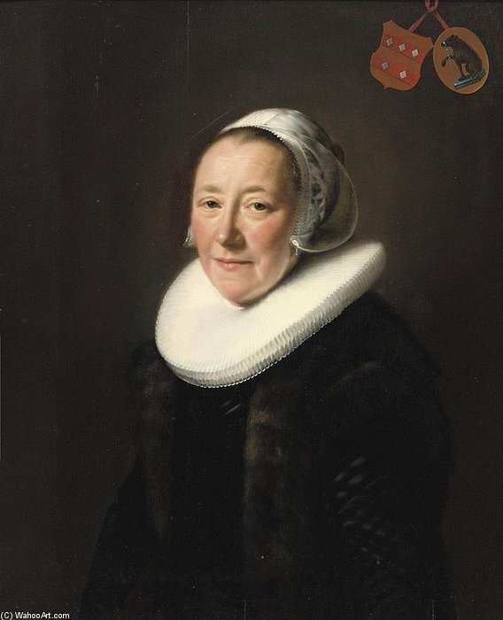 Portrait Of Erminia Van Beresteyn de Abraham De Vries (1590-1662, Netherlands)
