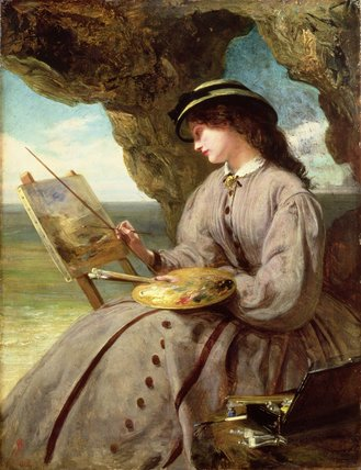 le fair Amateur de Abraham Solomon (1823-1862, United Kingdom) | Copie Tableau | WahooArt.com