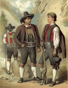 Albert Kretschmer - costume allemmand tyrol passeyer