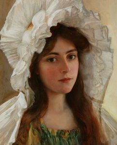 Albert Lynch - chef d-un fille