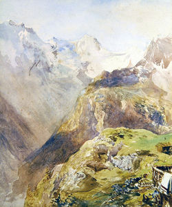 Alfred William Hunt - La vallée de Lauterbrunnen