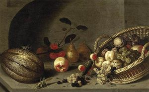 Ambrosius Bosschaert The Younger - nature morte de fruits