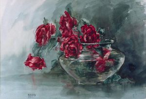 Anna Althea Hills - rouge roses