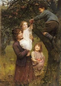 Arthur John Elsley - Picking Apples