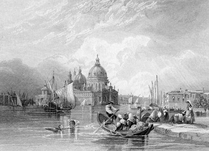 Le Grand Canal venise de Charles Bentley (1805-1854, United Kingdom)