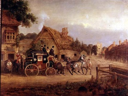 York à londres coach stage déclenchement de Charles Cooper Henderson (1803-1877, United Kingdom)