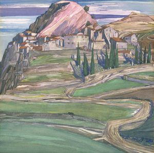 Charles Rennie Mackintosh - une colline  ville  dans  sud  France