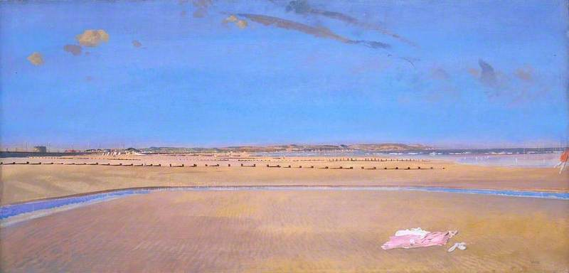 les sables Au Dymchurch de Charles Henry Sims (1873-1928, United Kingdom)