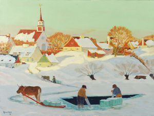 Clarence Alphonse Gagnon - Le Ice Harvest