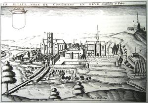 Claude Chastillon - gravure ancienne Of le ville Of Coulommiers