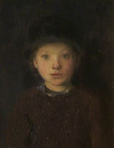 Edward William Stott - étude des a `girl-s` chef