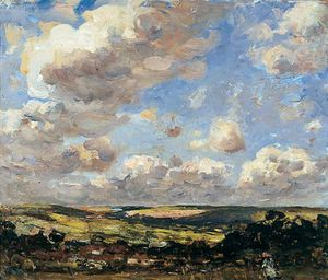 Frederick William Jackson - Hinderwell , north yorkshire , Une journée breezy