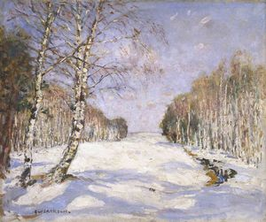 Frederick William Jackson - Des ombres sur  la  neiges