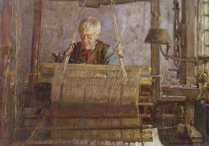 Frederick William Jackson - Le dernier de la main Loom Weavers