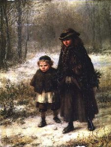 George Henry Boughton - un hiver Morning's Marcher