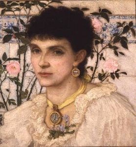 George Henry Boughton - portrait de mme . George Henri Boughton -