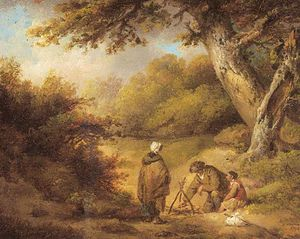 George Morland - A Gipsy Campement