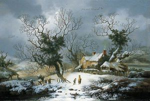 George Smith - paysage d'hiver
