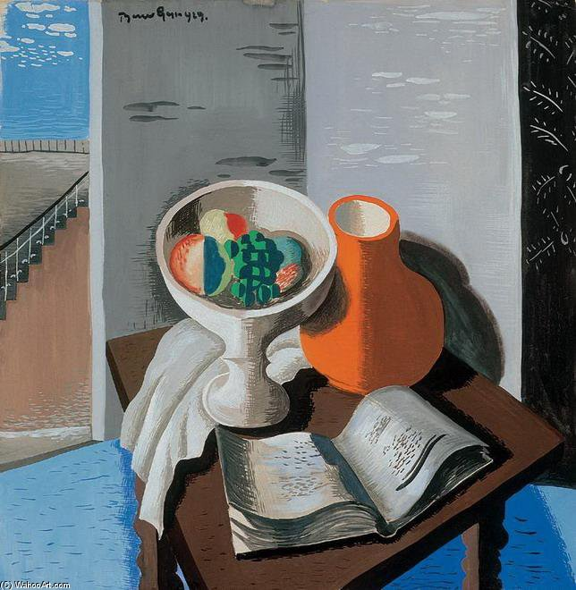 Still Life With Perspectives de Geza Bene (1900-1960, Slovakia)