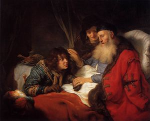 Govert Teunisz Flinck - Isaac Jacob Blessing
