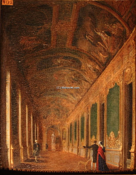 le doré galerie sous l`empire de Jean Francois Garneray (1755-1837, France) | Copie Tableau | WahooArt.com