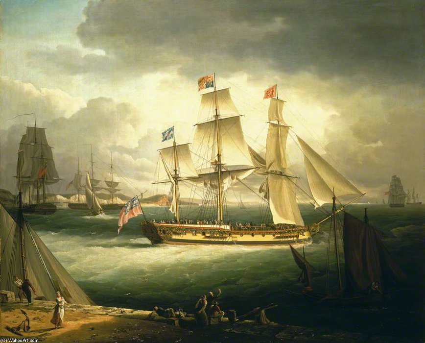 Le «Royal Sovereign», Yacht de John Thomas Serres (1759-1825, United Kingdom)