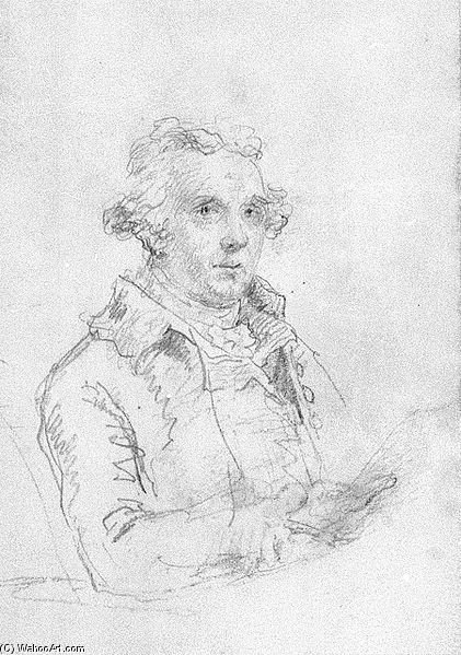 autoportrait de Nicholas Pocock (1740-1821, United Kingdom)