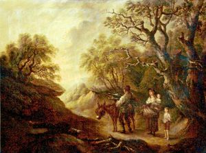 Thomas Barker - Le Woodcutter's Famille