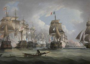 Thomas Buttersworth - bataille de Trafalgar
