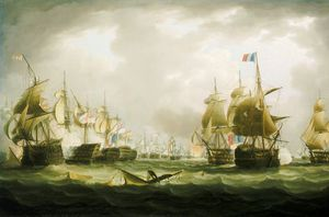 Thomas Buttersworth - la bataille de trafalgar , début de l-action -