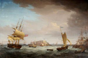 Thomas Whitcombe - Expédition Off Castle Cornet -