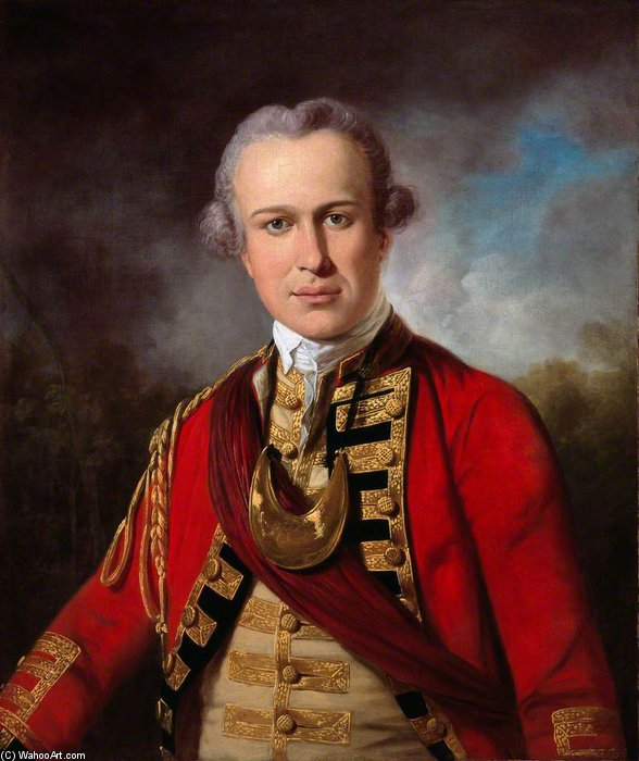 Un officier de A Royal Regiment of Foot de Tilly Kettle (1735-1786, United Kingdom) | WahooArt.com
