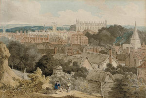 William Alfred Delamotte - une vue de d King's Université Chapelle , Cambridge
