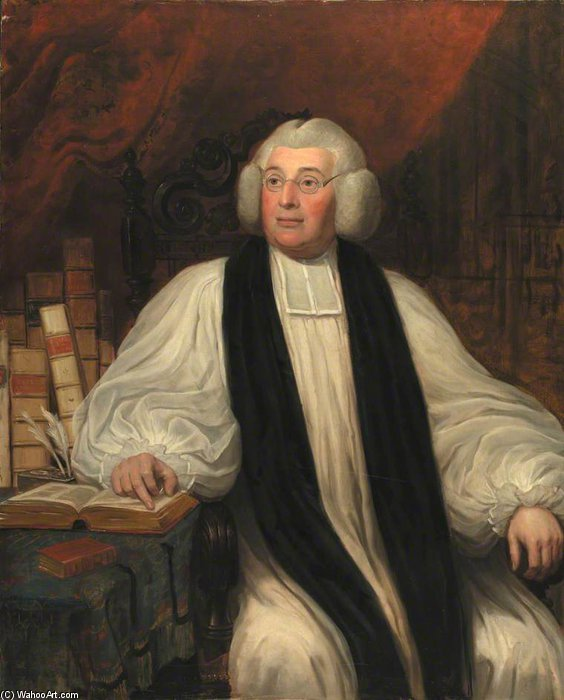 Bishop Burgess de William Owen (1769-1825, United Kingdom) | Reproductions De Peintures Célèbres | WahooArt.com