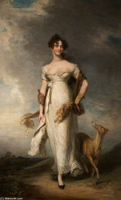 Achat Reproductions D'art Sur Toile : Georgiana Mari, Lady Leicester de William Owen (1769-1825, United Kingdom) | WahooArt.com