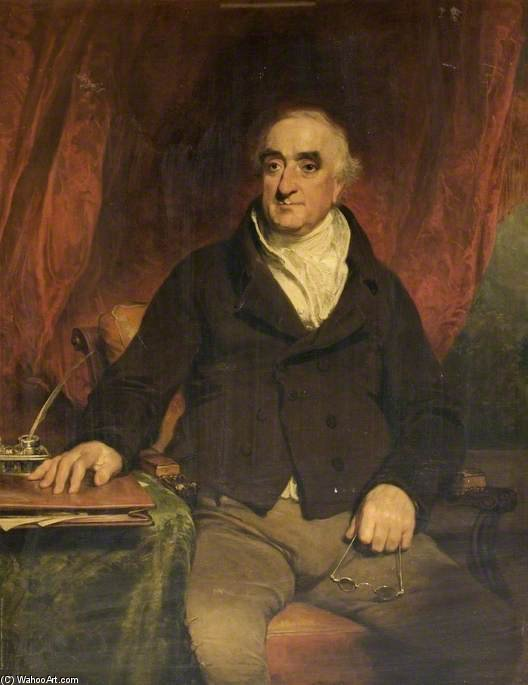 Praed, premier président de la Compagnie du canal de Grand Junction de William Owen (1769-1825, United Kingdom) | WahooArt.com