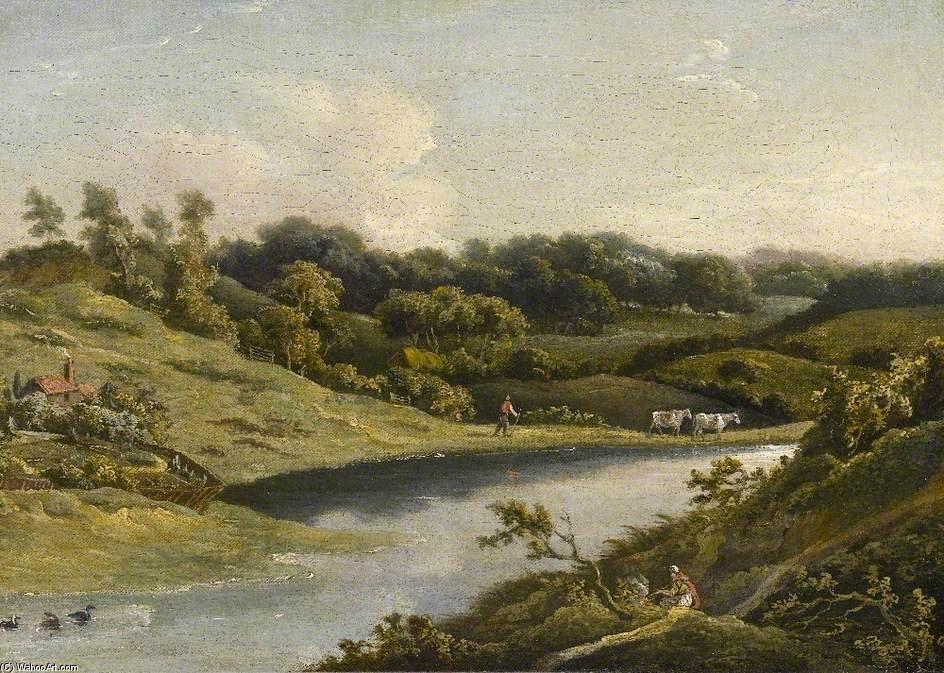river DEVON de William Payne (1760-1830, United Kingdom)