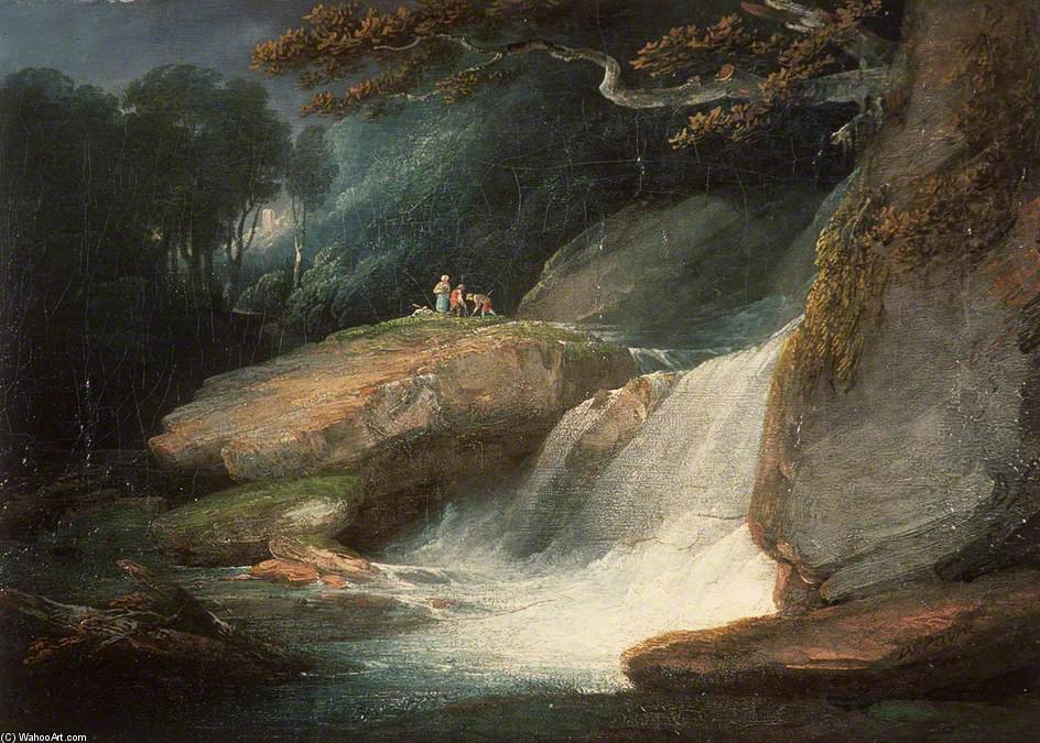 Swallow Falls de William Payne (1760-1830, United Kingdom)
