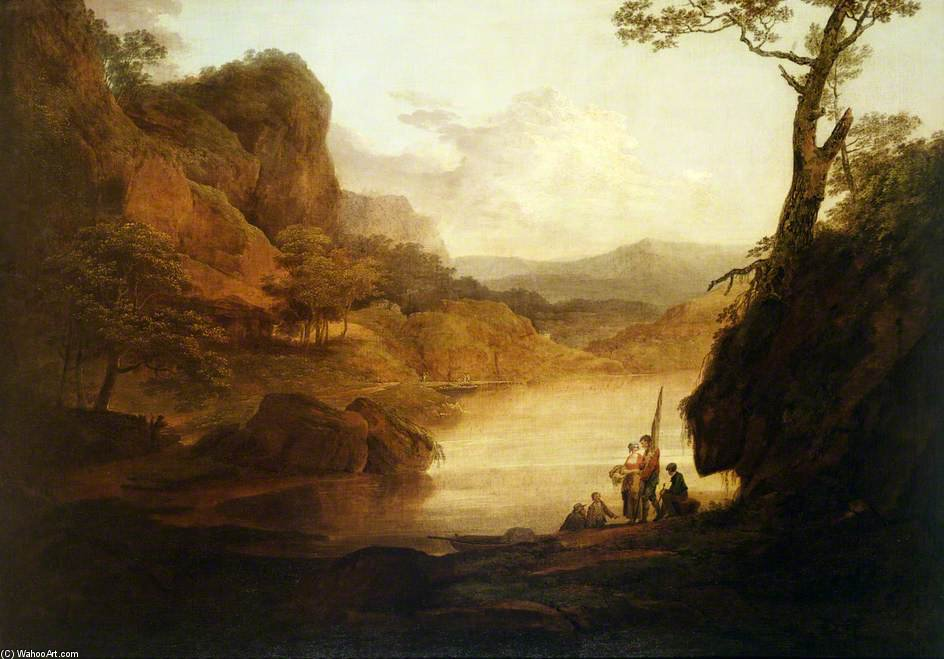 Vue Sur La Wye de William Payne (1760-1830, United Kingdom)