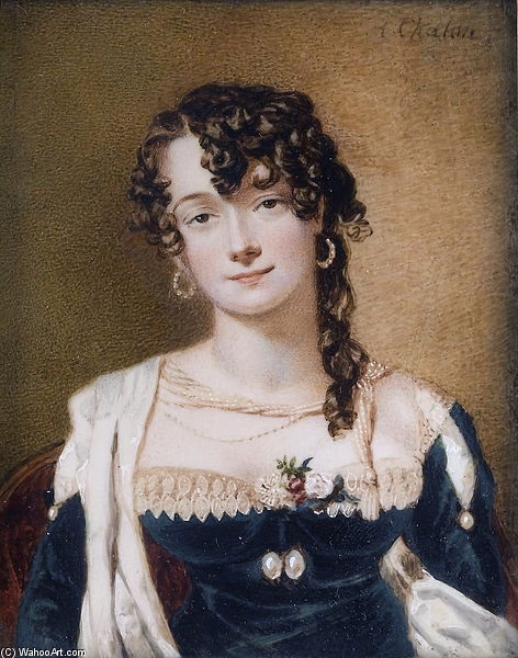 Frances Stuart, vicomtesse Sandon de Alfred Edward Chalon (1780-1860, Switzerland)