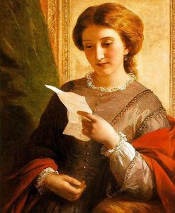 Alfred Edward Chalon - fille lecture une  lettre