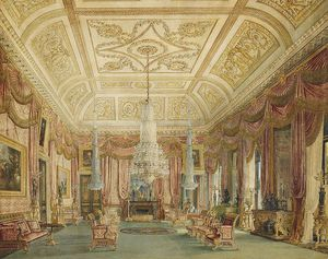 Charles Wild - Carlton House, Crimson Drawing Room
