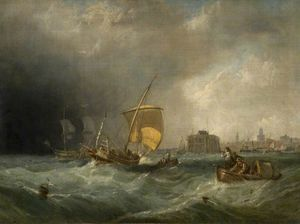 Clarkson Frederick Stanfield - Le Coming Storm, Calais