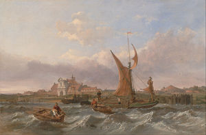 Clarkson Frederick Stanfield - Tilbury Fort - le vent Against The Tide