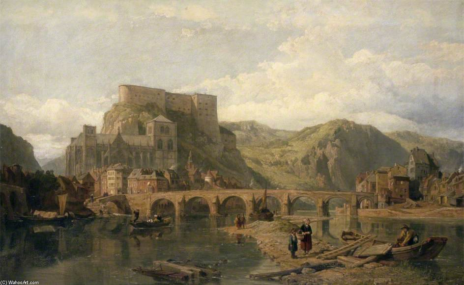 Huy sur la Meuse, en Belgique de George Clarkson Stanfield (1793-1867, United Kingdom)