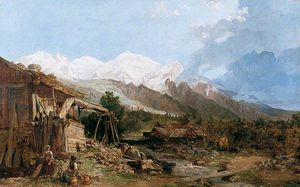 George Clarkson Stanfield - Paysage suisse
