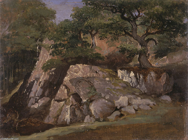 une vue de d la vallée rocks of près mittlach de James Arthur O Connor (1792-1841, Ireland) | Copie Tableau | WahooArt.com