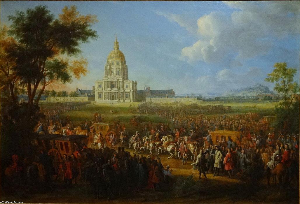 Louis XIV visite de l hôtel royal des Invalides de Pierre Denis Martin (DitMartin Le Jeune) (1663-1742, France)