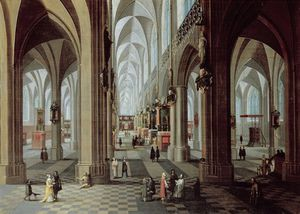 Pieter The Elder Neeffs - iintérieur de Anvers  cathédrale